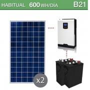 Kit solar para instalaciones de telecomunicaciones de 600Wh/día