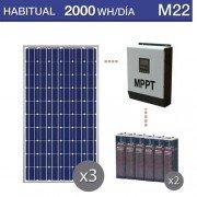 kit solar para vivienda habitual con consumo medio de 2000Wh/día