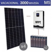 Kit solar con baterías estacionarias consumo 3000wh M5