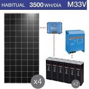 Kit de placas solares jinko, victron + hoppecke M33V