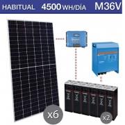 Kit solar victron de 4500Wh/día durante todo el año M36V