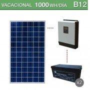 Kit solar 3000W potencia y 1000Wh/dia consumo vacacional
