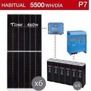 kit solar para vivienda habitual de 5500Wh/dia - P7
