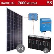 Kit solar vivienda habitual para consumo de 7000wh/dia