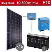 Kit solar para vivienda habitual con consumo de 10500Wh/dia