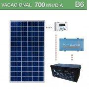 Kit solar para consumo bajo de 700wh/día y potencia máxima de 500va