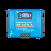 Regulador Victron Smart Solar MPPT 150/85 con terminales Tr y el display incorporado