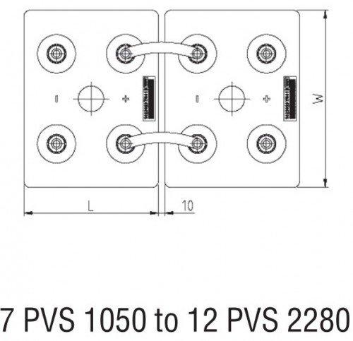 Bateria Estacionaria Bae Secura 8 Pvs 1200 12v 1160 Ah C100