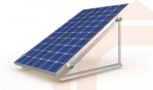 Estructura Para Panel Solar De 12v En Posici 243 N Vertical