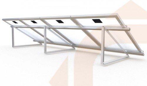 Estructura Para 4 Paneles Solares De 190wp Y 24v En