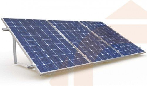 Estructura 3 Placas Solares De 24v 72 Celulas En Posici 243 N