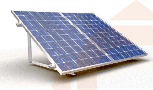 Estructura Para 2 Placas Solares De 12v En Posici 243 N