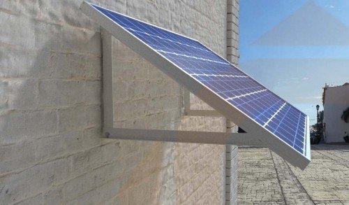 Estructura Fachada Para Panel Solar De 60 C 233 Lulas 250w