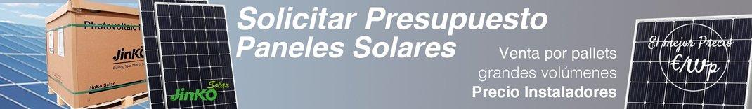 Presupuesto gran volumen placas solares