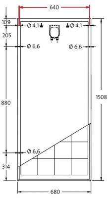 Estructura De Triangulos De Aluminio Para 1 Panel De 12v