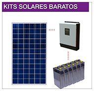 Kits solares baratos con placas solares