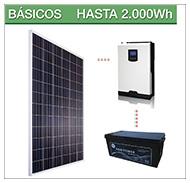 Kits solares basicos para pequeños consumos