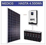 Kits solares medios para consumos medios
