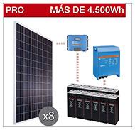 Kits solares PRO para consumo elevado