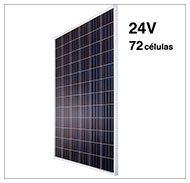 Paneles solares fotovoltaicos 24v